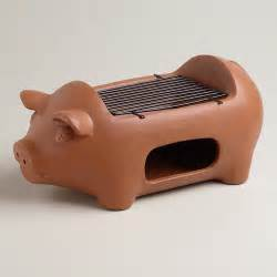 Cuisnart Toaster Pig Terra Cotta Grill Eclectic Outdoor Grills By