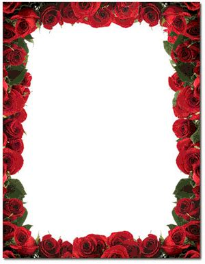 red rose border paper red rose paper with border