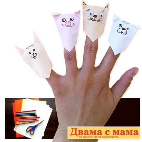 origami finger puppets krokotak origami finger puppets