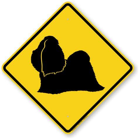 shih tzu guard shih tzu symbol sign guard sign beware sign sku k 7633 shih tzu