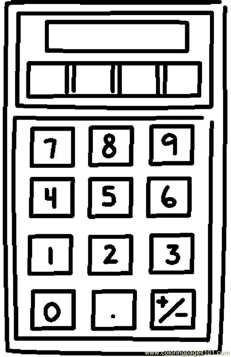 calculator 5 coloring page free coloring pages