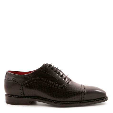 Handmade Mens Oxford Shoes - handmade s plain cap toe oxfords shoes leonardo
