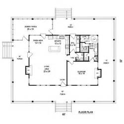 one bedroom cottage plans one bedroom 1 5 bath cabin with wrap around porch and