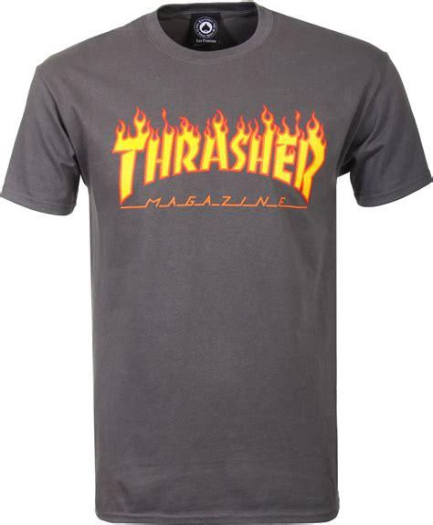 Kaos Thrasher Thrasher Tees Thrasher Tshirt Thrasher 6 thrasher t shirt charcoal free shipping