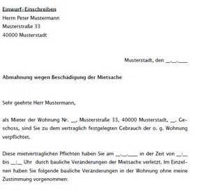 Zustimmung Musterschreiben Vertrag Vorlage Digitaldrucke De Abmahnung Wegen Baulicher Ver 228 Nderung Der Mietsache