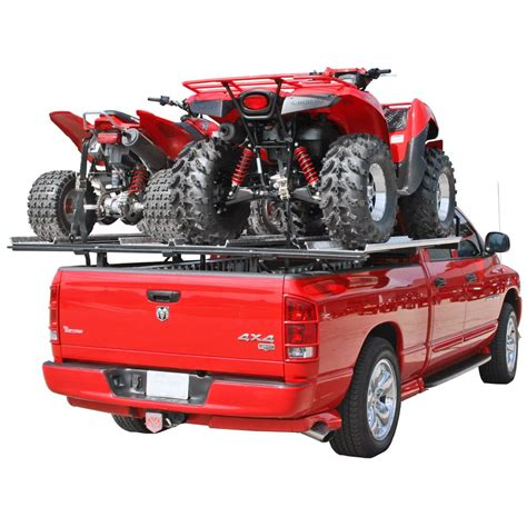 Truck Bed Rack For Atv by Haulall Atv Truck Rack System Holds 2 Atvs Discount Rs