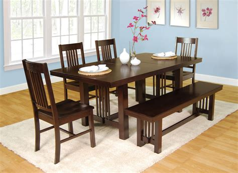 Kitchen Wood Furniture 26 big amp small dining room sets with bench seating