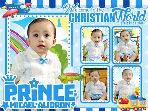 Tarpaulin Layout Design For Christening | christening tarpaulin by alterveb24 on deviantart