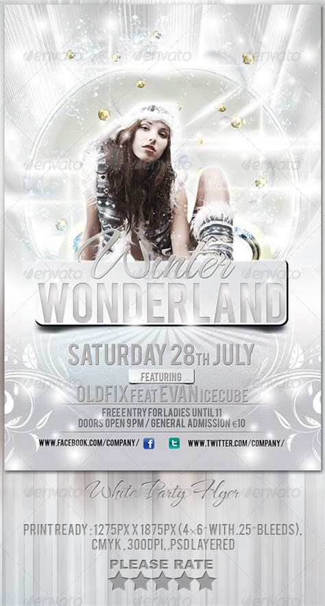 white party flyer template party flyer flyer template