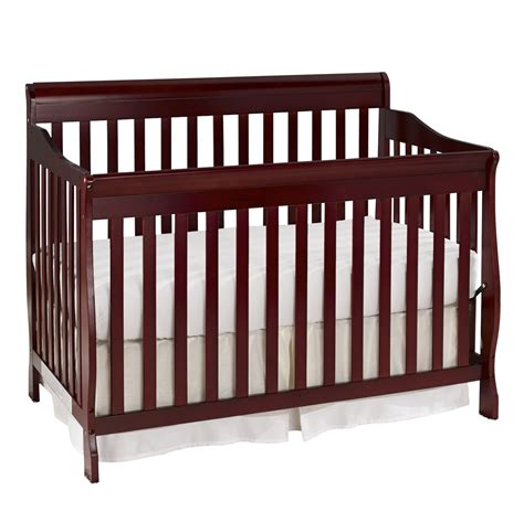 Baby Crib Specifications Big Oshi Convertible 4 In 1 Crib In Cherry Baby Baby Furniture Cribs