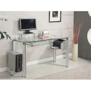 Innovex Computer Desk With Glass Top Innovex Wayfair