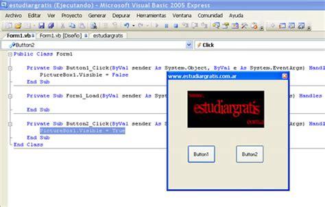 mostrar imagenes visual basic programacion picturebox estudiar gratis net