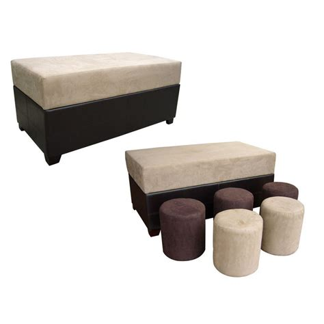 black ottoman bench ore international beige black ottoman bench hb4174 the