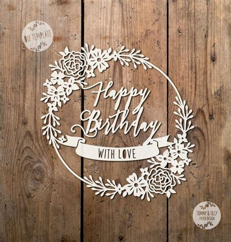 Silhouette Birthday Card Template by 1000 Images About Cards Cutting Paper Op