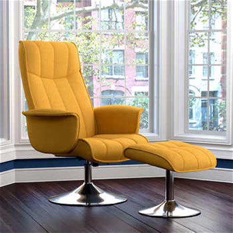 Stella Rocker Recliner And Ottoman Mustard Yellow