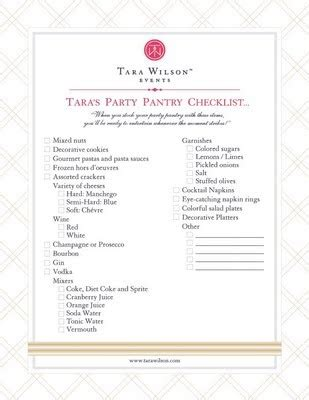 Pantry Basics List by Basic Pantry Checklist Let S Partay
