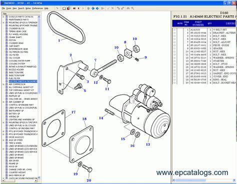 daewoo forklift 2009 spare parts catalog forklift trucks