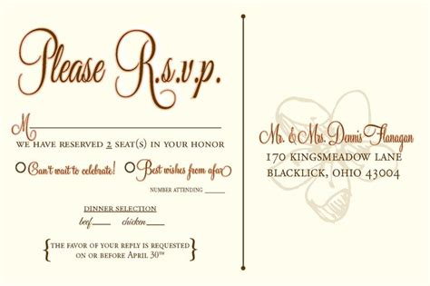 template for rsvp cards for wedding 17 best images about wedding invitations on