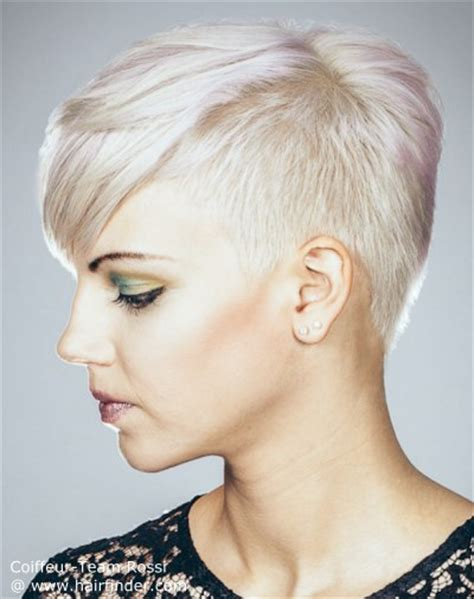 very short hair cut clippered back view of wedge haircut short hairstyle 2013