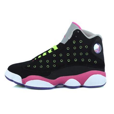 jordans shoes for kid air 13 air sole high black pink jordans shoes