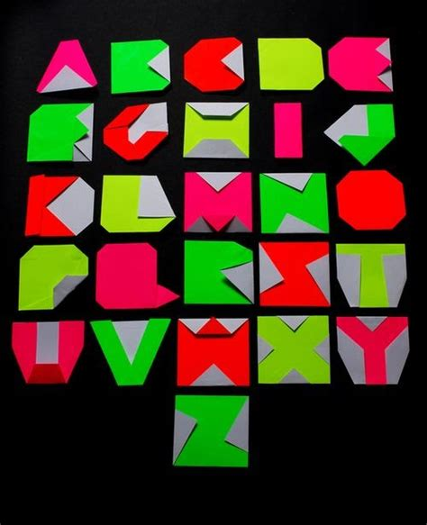Origami For Letters - graffiti style origami japanese alphabet graffiti