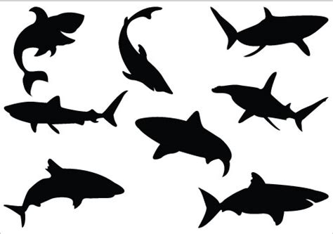 shark clipart silhouette clipart best