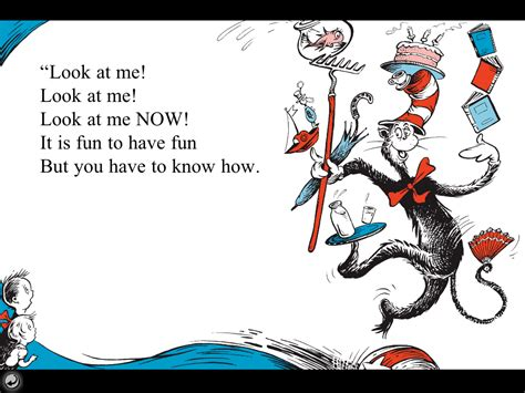cat in the hat cat in the hat reading quotes quotesgram