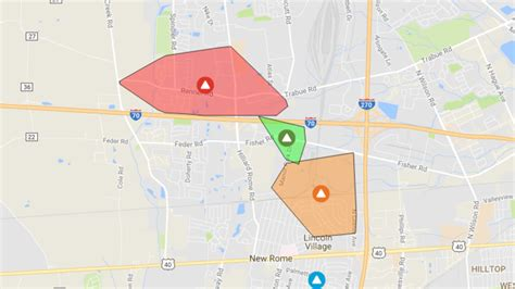 aep power outage map power outage affects thousands in hilliard area wtte