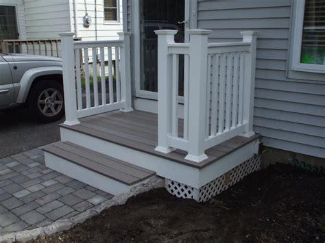 Front Door Railing Front Porch White Railing Decoto