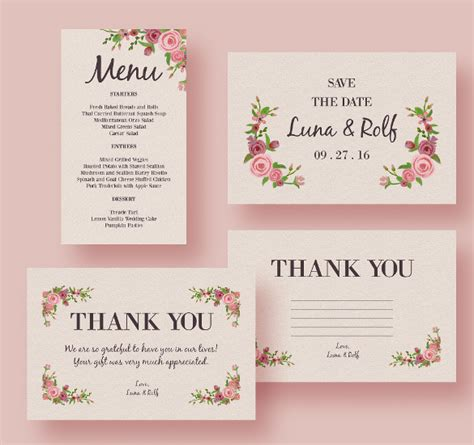 free food card templates for wedding 37 wedding menu template free sle exle format