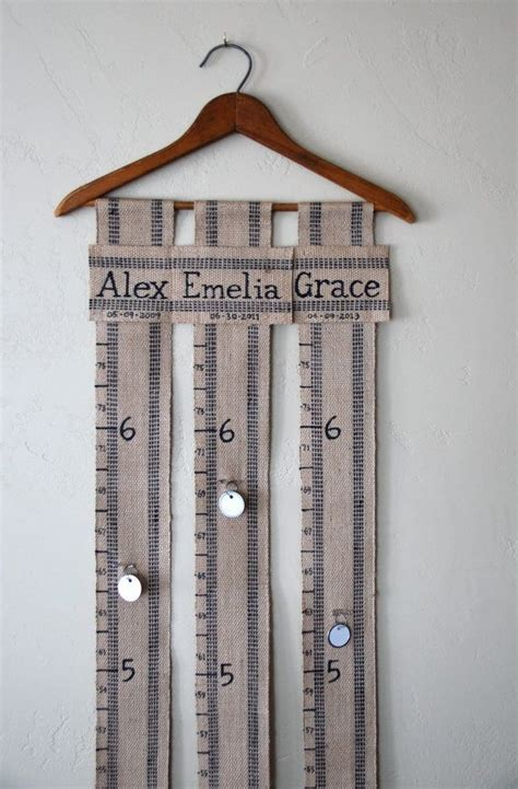 Handmade Height Chart - handmade custom personalized family growth chart on