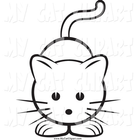 cat and clipart black and white cat clipart clipart suggest