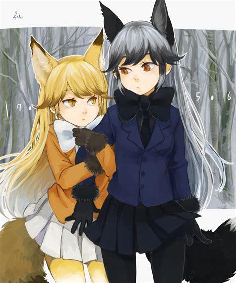 silver friends and silver fox kemono friends kitsunemimi