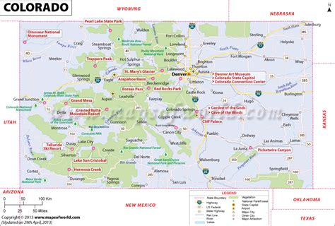 state map of colorado colorado map map of colorado usa co map