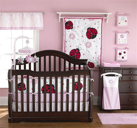 Pink And Brown Ladybug Crib Bedding Astonishing Mini Crib Bedding Designed In Minimalist Model