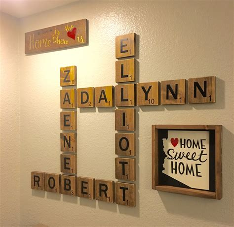 home decor names family letter wall art oversized letters to display family