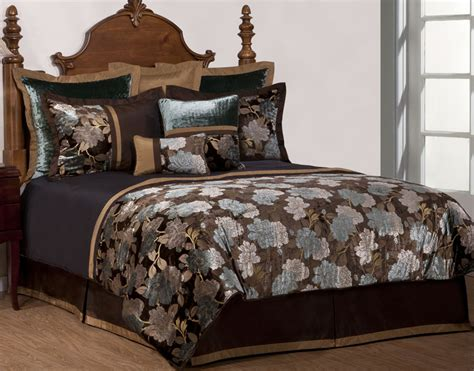 9 Piece Cal King Rainforest Jacquard Bedding Comforter Set