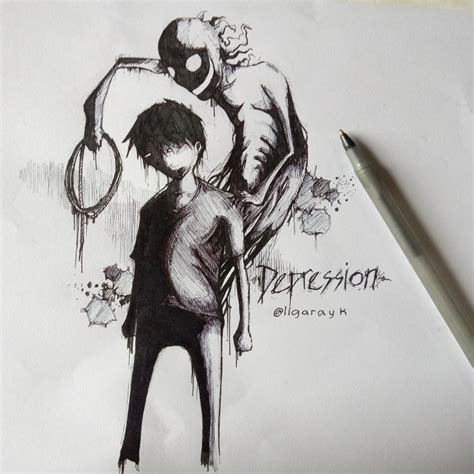 How To Draw Depression