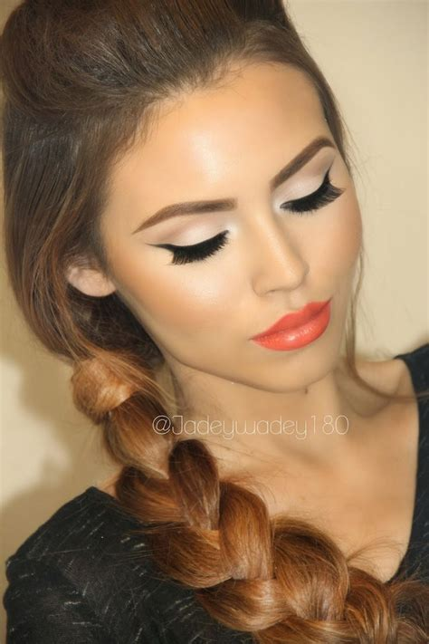hair and makeup looks prom makeup ideas beautiful lipsticks and coral lips