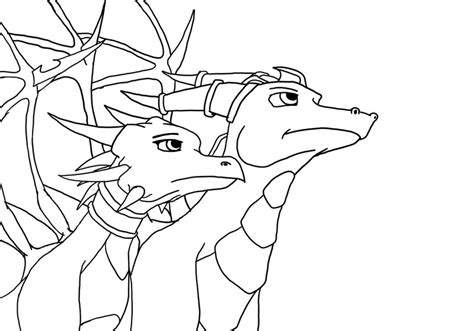 coloring pages of spyro the dragon spyro and cynder lineart by atekal on deviantart