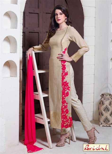in suite designs voguish jute silk embroidered work designer suit