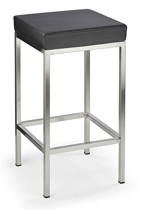 Cube Bar Stool by Cube Brushed Bar Stool Black