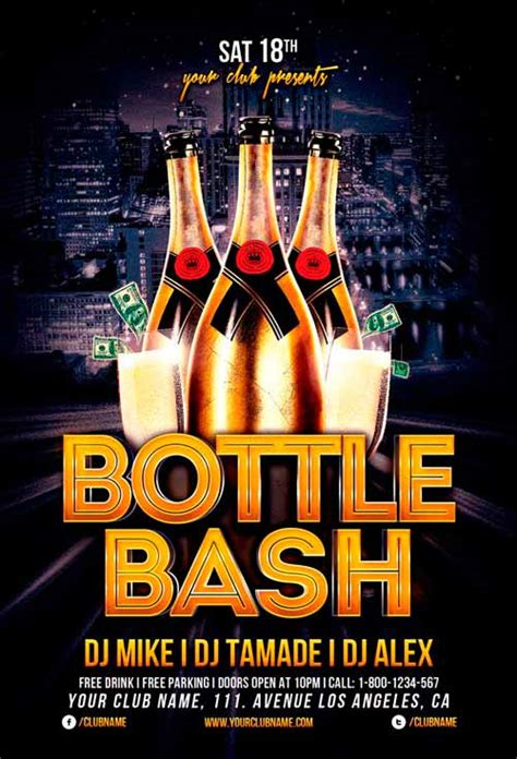 Bottle Bash Flyer Template For Photoshop Awesomeflyer Com Bash Flyer Template