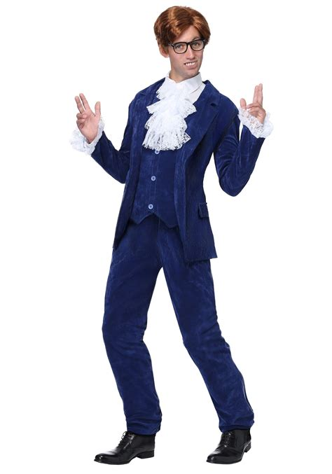 swinging suits blue deluxe plus size 60 s swinger costume