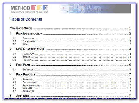 4 word table of contents template   teknoswitch