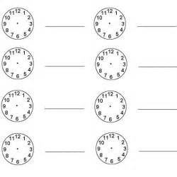 clock templates for telling time blank clock worksheets printable