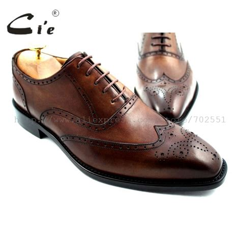 Handmade Mens Oxford Shoes - cie square toe brogues lace up oxfords handmade