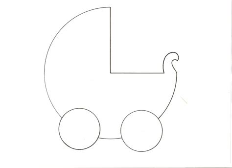 baby stroller template sagoma moldes feltro baby carriage and babies