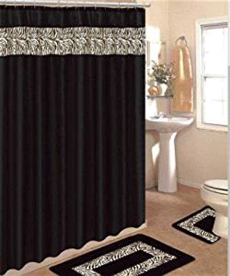 Matching Curtains And Rugs 4 Bath Rug Set 3 Black Zebra Bathroom Rugs With Fabric Shower Curtain