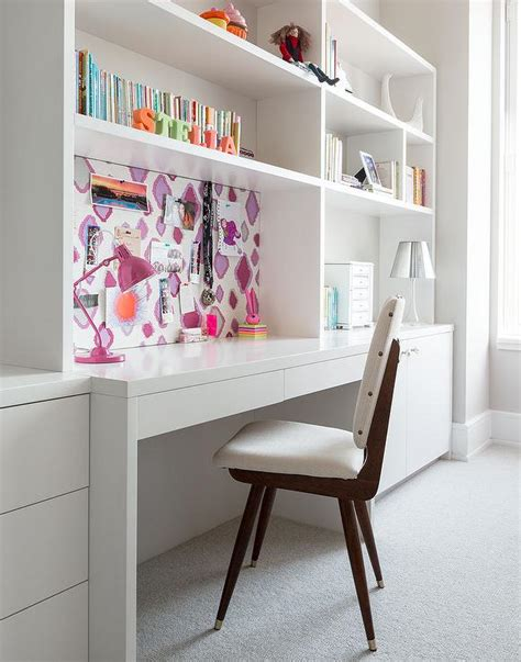 white desk for room rooms white built in desk design ideas